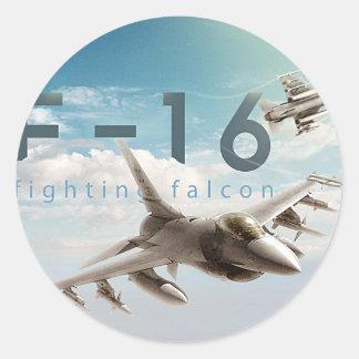Adesivo Redondo Falcão F-16 de combate