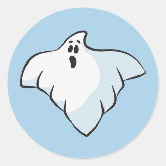 Adesivo Redondo Fantasma do Dia das Bruxas