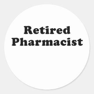 Adesivo Redondo Farmacêutico aposentado