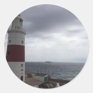 Adesivo Redondo Farol de Gibraltar
