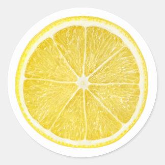 Adesivo Redondo Fatia de limão