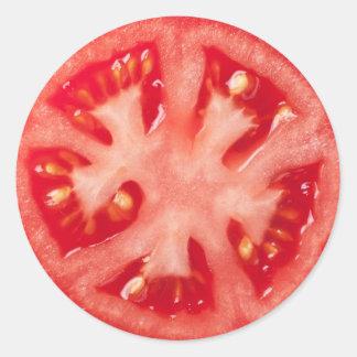 Adesivo Redondo Fatia do tomate