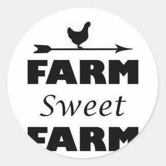 Adesivo Redondo fazenda doce da fazenda