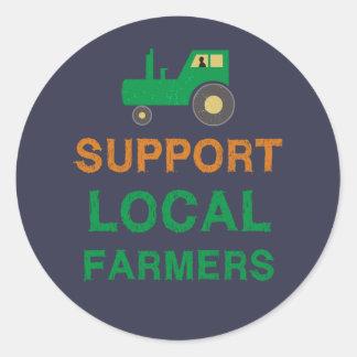 Adesivo Redondo Fazendeiros do Local do apoio