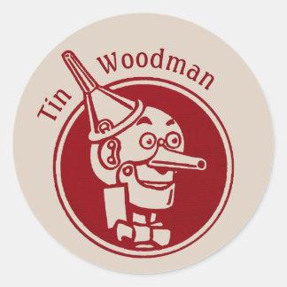 Adesivo Redondo Feiticeiro maravilhoso da cara CC0897 do Woodman