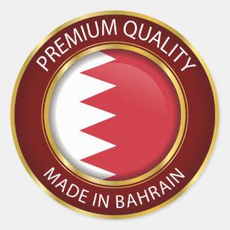 Adesivo Redondo Feito na bandeira de Barém, o barenita colore o