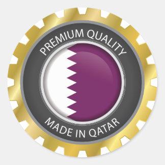 Adesivo Redondo Feito na bandeira de Qatar, Qatari colore o selo