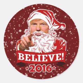 Adesivo Redondo Feriado do presidente Donald Trump