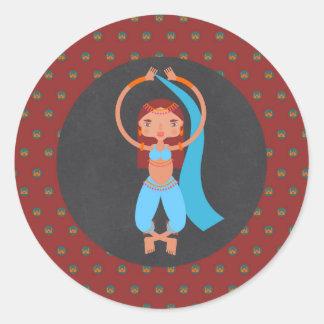 Adesivo Redondo Festa de aniversário da menina das noites árabes