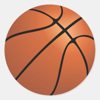Adesivo Redondo Festa de aniversário do basquetebol dos esportes