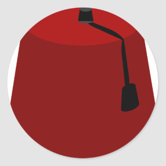 Adesivo Redondo Fez-Chapéu