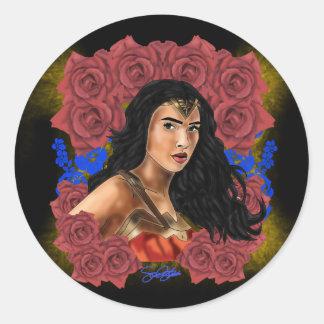 Adesivo Redondo Filha de Themyscira