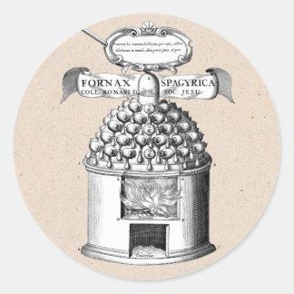 Adesivo Redondo Fitoterapia Spagyric