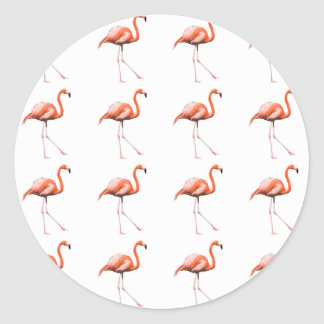 Adesivo Redondo Flamingos de marcha