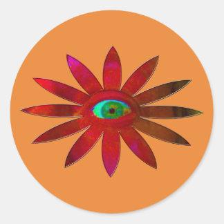 Adesivo Redondo Flor avermelhada do olho