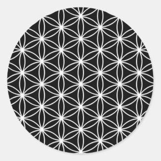 Adesivo Redondo Flor da geometria sagrado da vida
