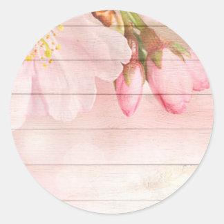 Adesivo Redondo Flor de cerejeira