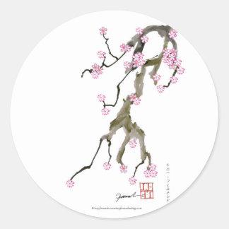 Adesivo Redondo Flor de cerejeira 17 Tony Fernandes