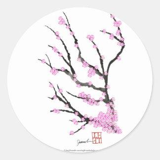 Adesivo Redondo Flor de cerejeira 21 de Sakura, Tony Fernandes