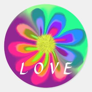 Adesivo Redondo Flor do amor