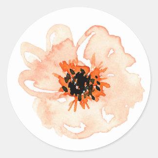 Adesivo Redondo Flor do solteiro do parque do pomar