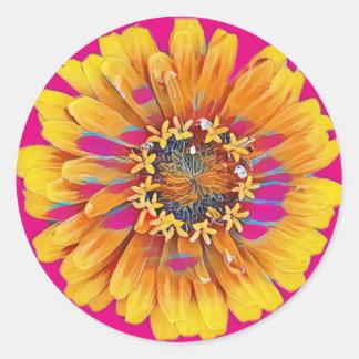 Adesivo Redondo Flor do verão na flor completa