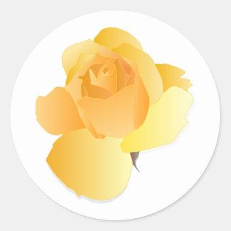 Adesivo Redondo Floral amarelo aumentou