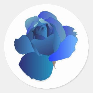 Adesivo Redondo Floral azul aumentou