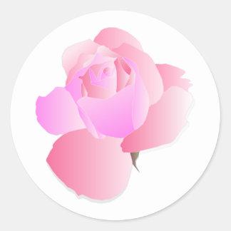 Adesivo Redondo Floral cor-de-rosa aumentou