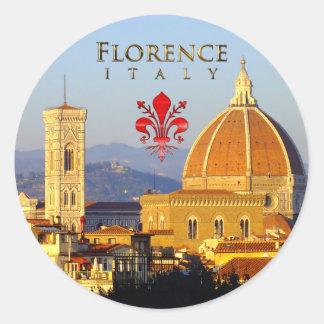 Adesivo Redondo Florença - Santa Maria del Fiore