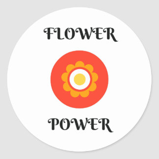 ADESIVO REDONDO FLOWER POWER