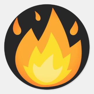 Adesivo Redondo Fogo intenso Emoji