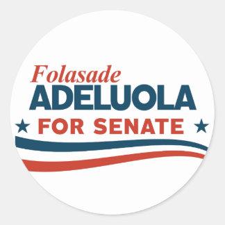 Adesivo Redondo Folasade Adeluola para o Senado