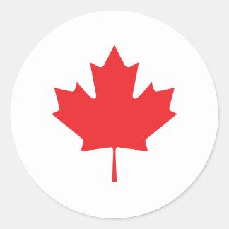Adesivo Redondo Folha de bordo canadense