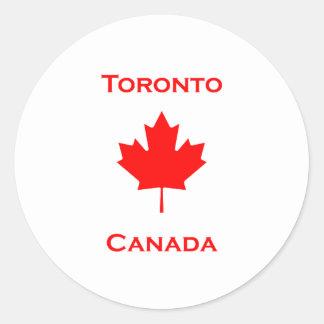 Adesivo Redondo Folha de bordo de Toronto Canadá