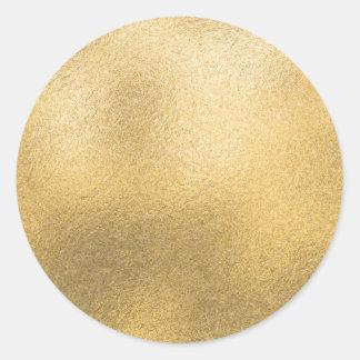 Adesivo Redondo Folha Textured do modelo do ouro falso vazio
