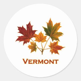 Adesivo Redondo Folhagem de outono de Vermont - folhas de bordo