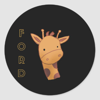Adesivo Redondo Ford o girafa