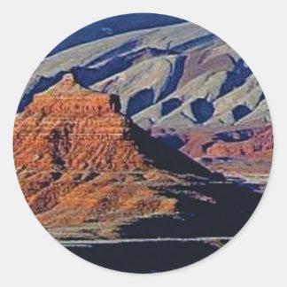 Adesivo Redondo formas naturais do deserto