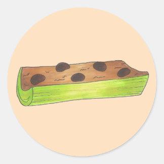 Adesivo Redondo Formigas em passas Foodie de uma manteiga de