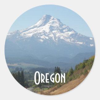 Adesivo Redondo Foto do viagem de Oregon