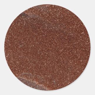 Adesivo Redondo Foto macro do vidro de Goldstone