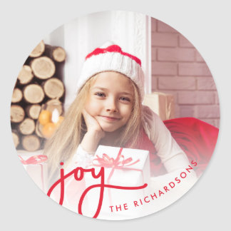 Adesivo Redondo Foto simples da alegria | do Natal