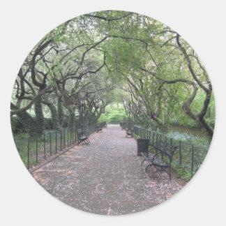 Adesivo Redondo Fotografia conservadora do Central Park NYC do