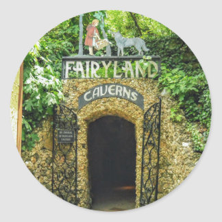 Adesivo Redondo Fotografia da natureza das cavernas do Fairyland