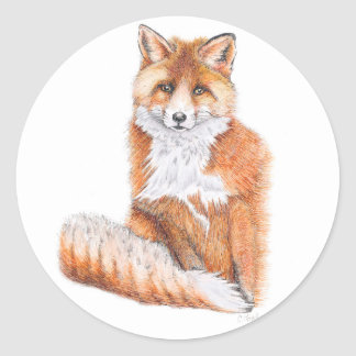 Adesivo Redondo Fox