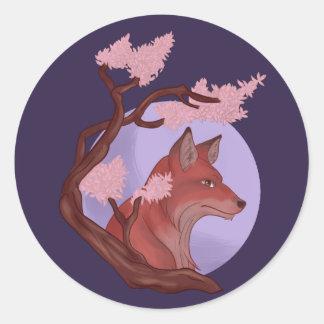 Adesivo Redondo Fox de Sakura