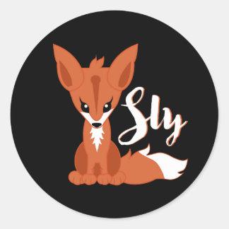 Adesivo Redondo Fox manhoso