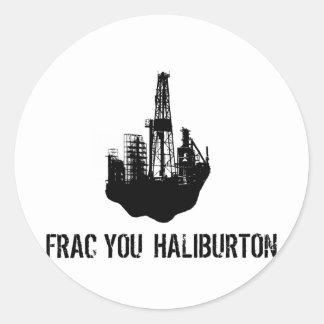 Adesivo Redondo frac você Haliburton