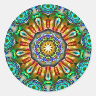 Adesivo Redondo Fractal espiritual da jóia